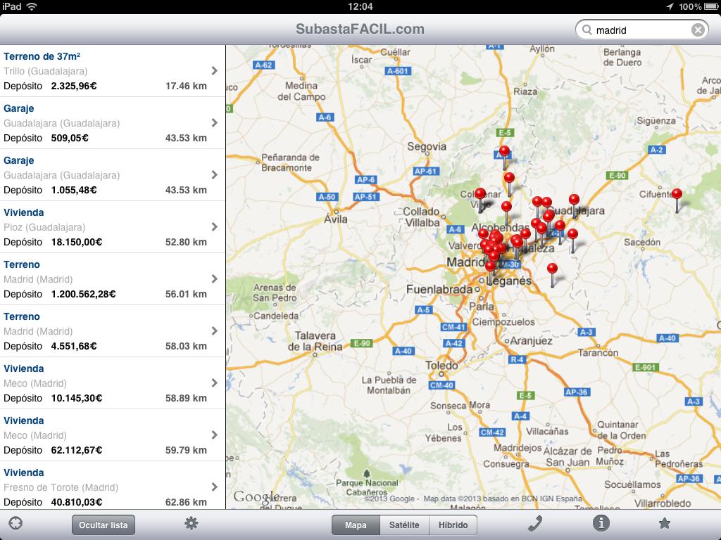 Aplicación de Subastas para Ipad y Iphone en AppleStore